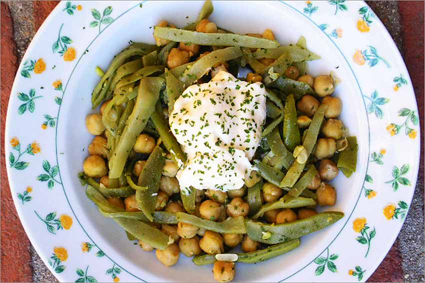 Judías Verdes Con Garbanzos Y Mayonesa Al Ajo Cocina Para Torpes