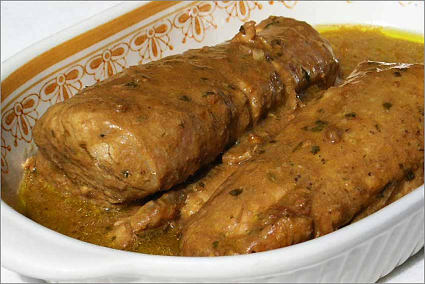 Solomillos De Cerdo Con Salsa De Setas