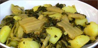Receta de acelgas con patata fácil y rápida