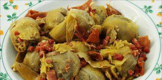Receta de alcachofas con jamón fácil y rápida