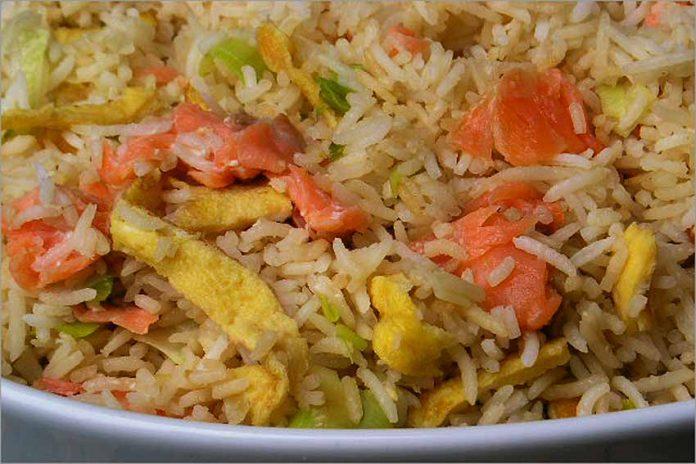 Receta de arroz con ahumados fácil y rápida