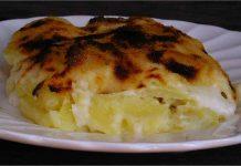 Receta de bacalao con patatas y bechamel fácil y rápida