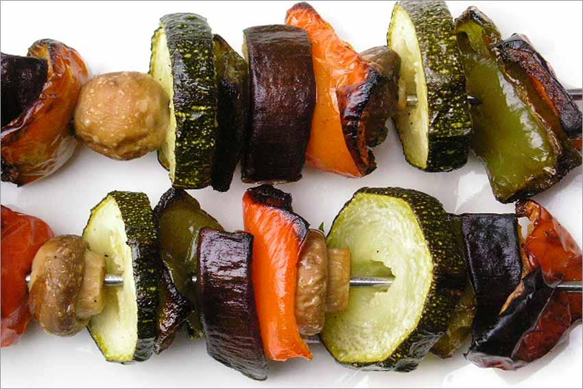 Brocheta de verduras
