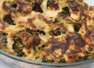 Receta de brócoli con nata al horno fácil y rápida