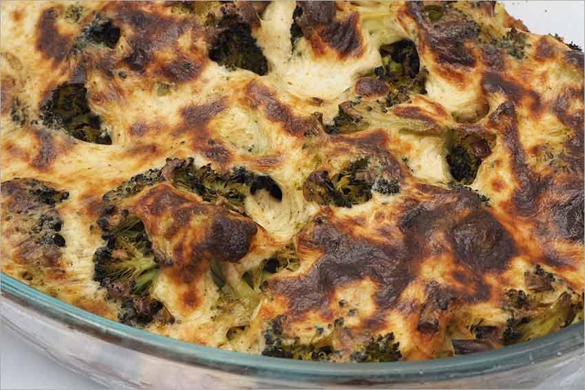 Brócoli con nata al horno