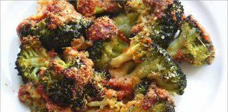 Receta de brócoli con tomate gratinado fácil y rápida