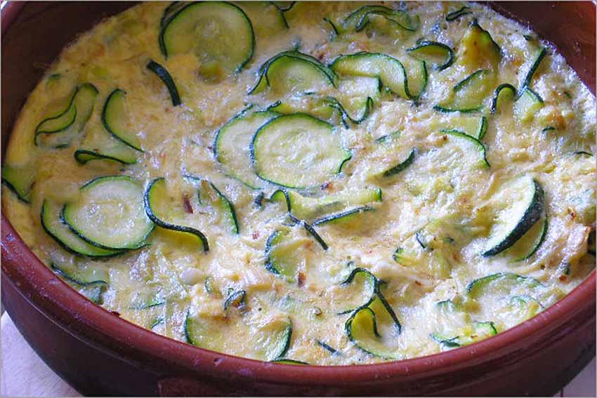 Calabacines con huevo al horno