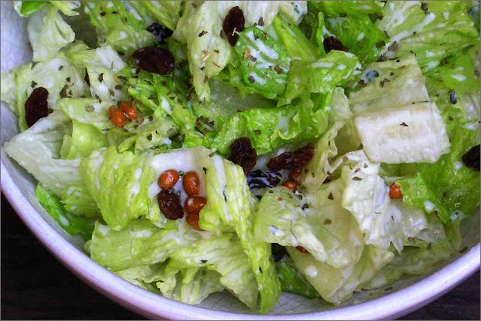 Receta de ensalada con soja y salsa de yogur fácil y rápida