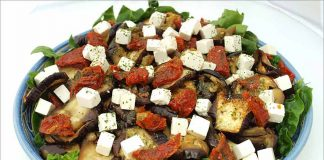 Receta de ensalada de berenjenas asadas fácil y rápida