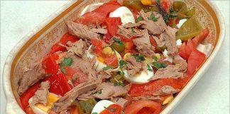 Receta de ensalada de pimientos asados fácil y rápida