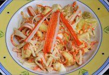Receta de ensalada de surimi fácil y rápida