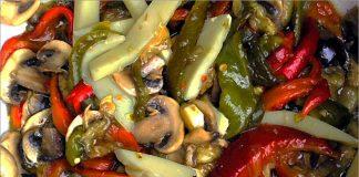 Receta de ensalada de verduras asadas fácil y rápida