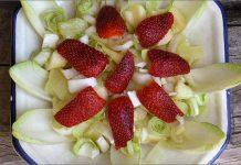 Receta de ensalada de endibias y manzana fácil y rápida