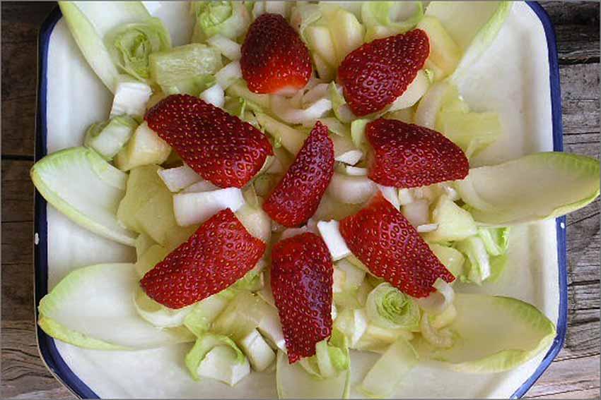 Ensalada de endivia y manzana