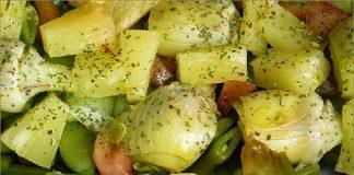 Receta de ensalada templada de judías verdes fácil y rápida