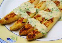 Receta de espárragos con salsa de mostaza y miel fácil y rápida