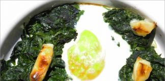 Receta de espinacas con huevo fácil y rápida