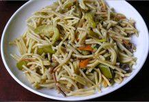 Receta de fideua con verduras y salsa de espinacas fácil y rápida