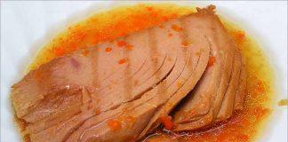 Receta de filete de atún en salsa fácil y rápida