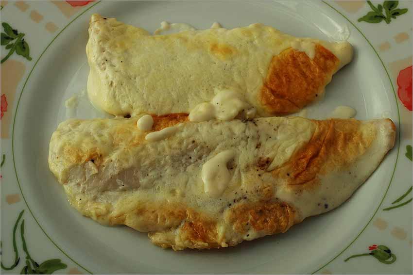 Filetes de merluza al horno con mayonesa
