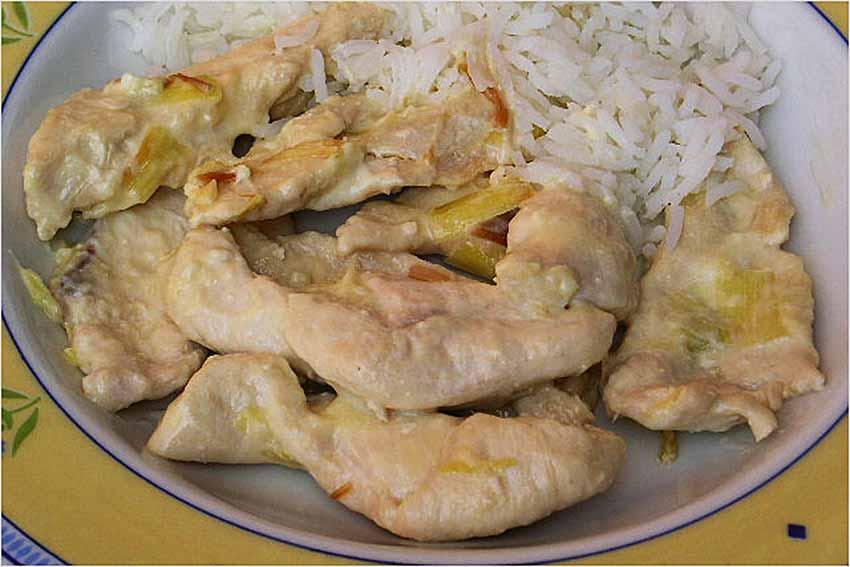 Filetes de pollo con quesitos