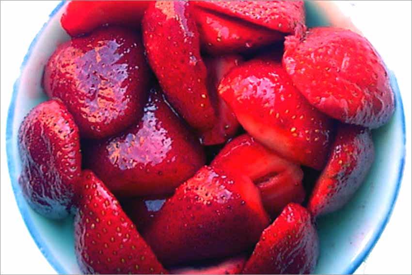 Fresas al cava