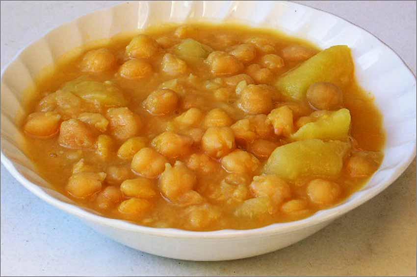 Garbanzos con patatas
