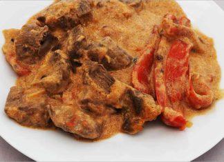 Receta de potaje de goulash de carne fácil y rápida