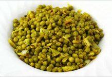 Receta de guisantes al azafrán fácil y rápida