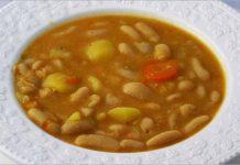 Receta de judías blancas con verduras fácil y rápida