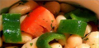 Receta de judías blancas en ensalada fácil y rápida