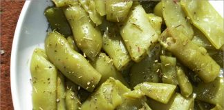 Receta de judías verdes al ajo fácil y rápida