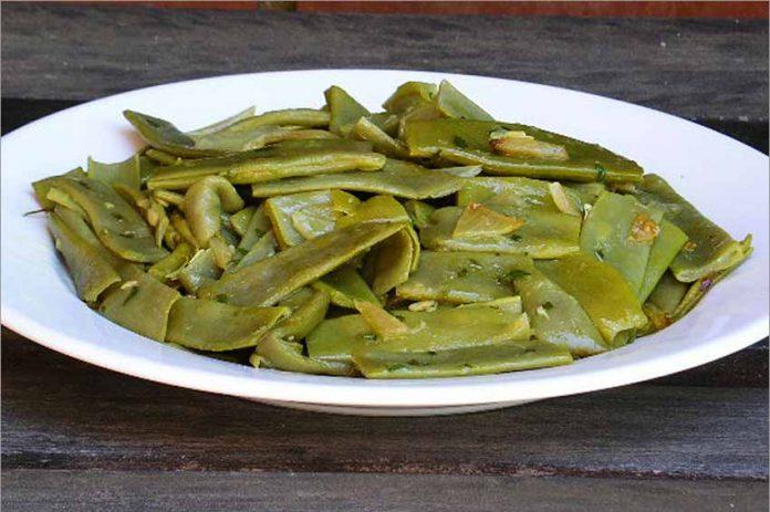 Receta de judías verdes con limón fácil y rápida