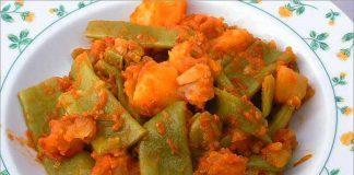 Receta de judías verdes con patatas fácil y rápida