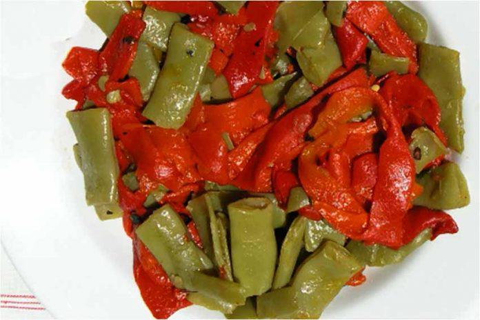 Receta de judías verdes con pimientos fácil y rápida
