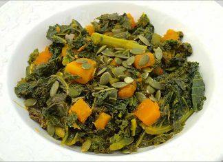 Receta de kale con calabaza fácil y rápida