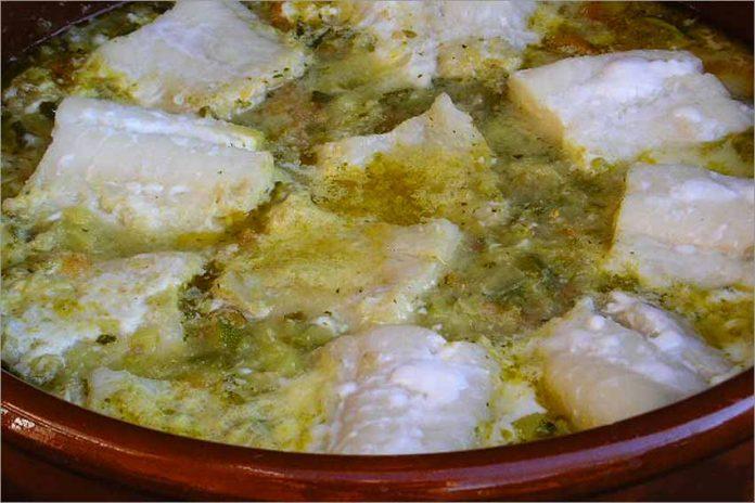 Receta de lomos de bacalao con verduras fácil y rápida