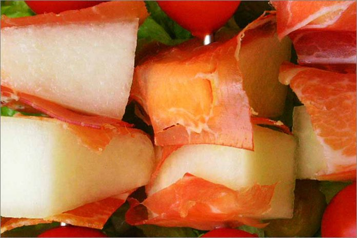 Receta de melón con jamón fácil y rápida
