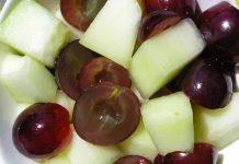Receta de melón con uvas fácil y rápida