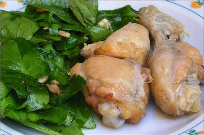 Receta de muslos de pollo en escabeche fácil y rápida