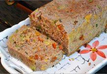 Receta de pastel de carne con verduras fácil y rápida