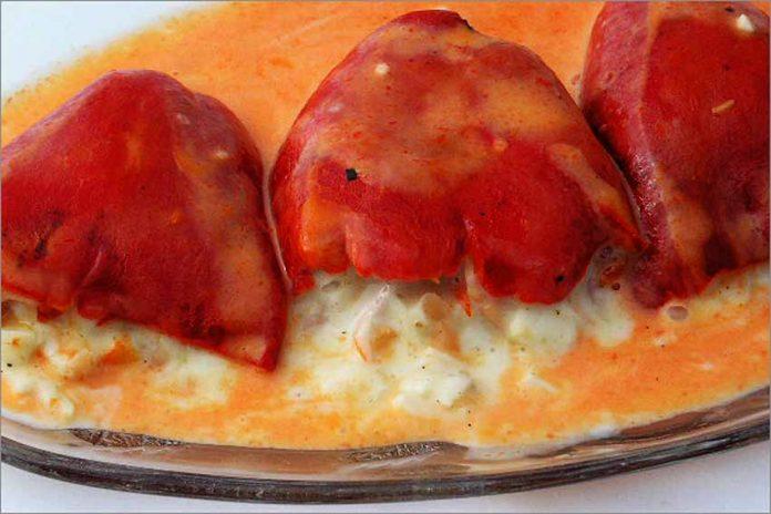 Receta de pimientos rellenos de salmón ahumado fácil y rápida