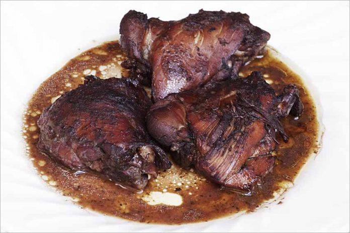 Receta de pollo al vino tinto fácil y rápida