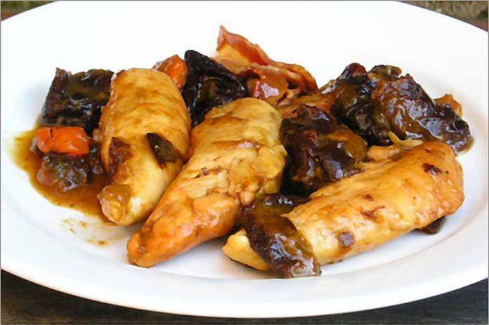 Receta de pollo con ciruelas fácil y rápida