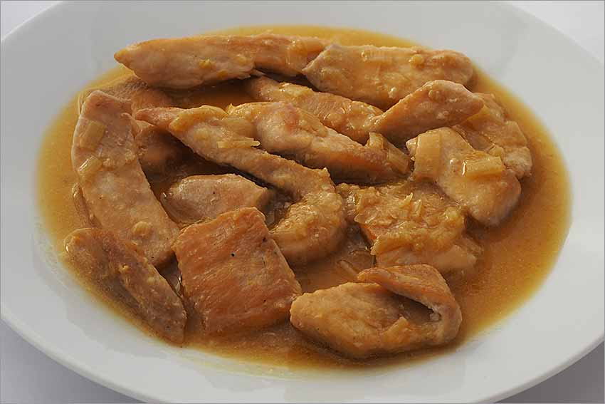 Pollo con jengibre y limón