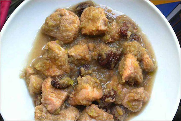 Receta de pollo en salsa de manzana fácil y rápida