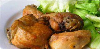 Receta de pollo en samfaina fácil y rápida