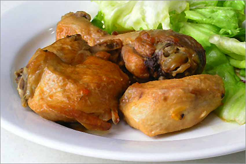 Pollo en samfaina