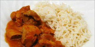 Receta de pollo tikka masala fácil y rápida