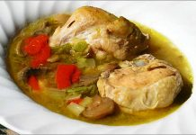 Receta de potaje de pollo fácil y rápida